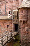 Details of Haut-Koenigsbourg castle - Alsace. France Royalty Free Stock Photography