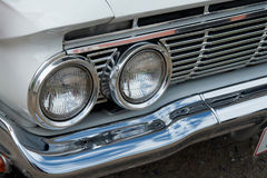Details of headlight of a vintage car Royalty Free Stock Photography