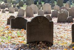 Old Burying Grounds in Boston, Massachusetts Royalty Free Stock Images