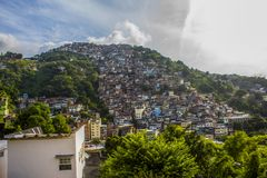Details of the hill of pleasures in Rio de Janeiro stock photo