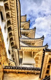 Details of Himeji Castle in Japan Stock Photos