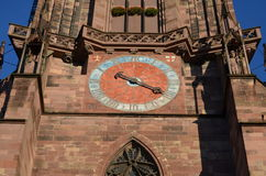 Gothic Cathedral of Freiburg, Southern Germany Royalty Free Stock Photography