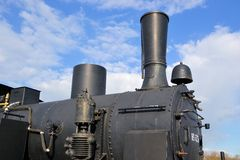 Details of a historic steam locomotive Stock Images