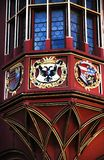 Details of Historical Merchants Hall facade, Freiburg im Breisgau, Germany