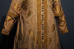 Details historische kleren de keizer Lazara stock foto's