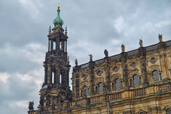 Details of the Hofkirche in Dresden Royalty Free Stock Images