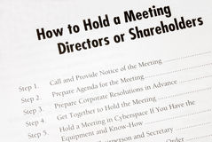 Details on holding a business meeting Royalty Free Stock Images