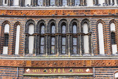 Details of Holsten Gate in Lubeck old town, Germany Royalty Free Stock Photography