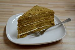 Details of a homemade honey cake Royalty Free Stock Photography