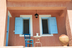 Details of house in Assos village, Kefalonia Stock Photo