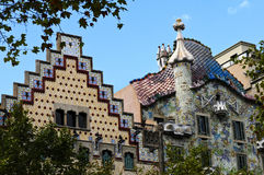 Details of the house of Gaudi Stock Images