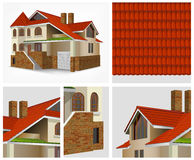 Details of house in section Royalty Free Stock Images