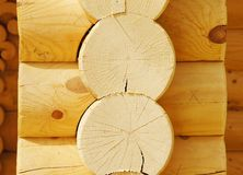 Details of houses made of logs Royalty Free Stock Photography