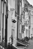 Houses. Details of houses in Middelburg Zeeland Netherlands stock photo