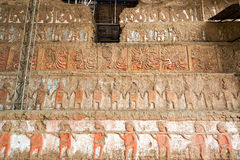Details in Huaca de la Luna in Trujillo, Peru Stock Photo