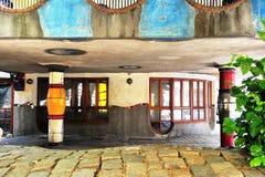 Details of Hundertwasser house in Vienna, Austria Stock Images