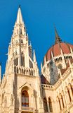 Details of the Hungarian parliament Royalty Free Stock Photo