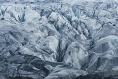 Details of the ice in a glacier, south of Iceland Stock Photography