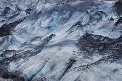 Details of the ice in a glacier, south of Iceland Stock Photos