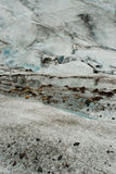 Details of the ice in a glacier, south of Iceland Royalty Free Stock Image