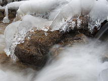 Details of the icy water Stock Photo