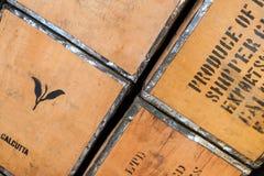 Details im Teehandelsgeschäft Lizenzfreies Stockbild