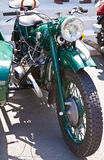 Details of immaculately maintained vintage classic motorcycle Royalty Free Stock Image