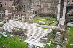 Details of the Imperial Fora in Rome, Italy Stock Image