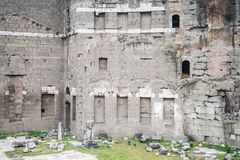 Details of the Imperial Fora in Rome, Italy Stock Images