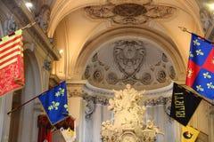 Details innerhalb der Kirche von Santa Maria del Priorato Stockfoto
