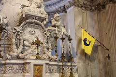 Details inside the Church of Santa Maria del Priorato. The picture shows details of the Church of Santa Maria del Priorato, an ancient church completely royalty free stock images