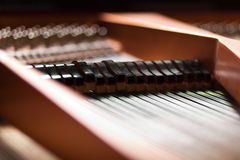 Details inside a piano Stock Photo