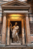 Details and the interior of the ancient Roman temple Pantheon, R Stock Photography