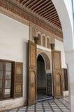 Details of interior of El Bahia palace, Marrakech, Morocco. Marrakesh, Morocco - May 3, 2017:   Details of interior of El Bahia palace, Marrakech, Morocco Stock Images