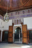 Details of interior of El Bahia palace, Marrakech, Morocco Royalty Free Stock Image