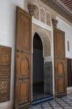 Details of interior of El Bahia palace, Marrakech, Morocco. Marrakesh, Morocco - May 3, 2017:   Details of interior of El Bahia palace, Marrakech, Morocco Stock Photos