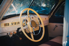 Details of interior and exterior of the retro car Royalty Free Stock Photos