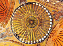 Details of interior of Hagia Sophia church, Istanbul Royalty Free Stock Photos