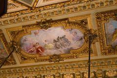 Old Painting on Ceiling Royalty Free Stock Images