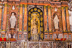 Details of interior in Seville Cathedral Royalty Free Stock Photo