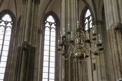 Details of the interior of St. Martins Cathedral in Utrecht Royalty Free Stock Images