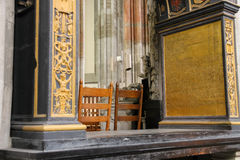 Details of the interior of St. Martins Cathedral in Utrecht Royalty Free Stock Photography