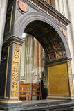 Details of the interior of St. Martins Cathedral in Utrecht Royalty Free Stock Image