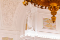Details of the interior view of the Georgievsky hall in the Grand Kremlin Palace in Moscow. Royalty Free Stock Photos