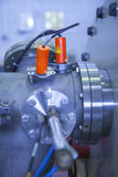 Details of ION accelerator, industrial blue toned Stock Photography