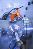 Details of ION accelerator, industrial blue toned Royalty Free Stock Image