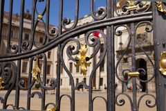 Details of an iron door in Prague Stock Photos