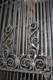 Details of iron gate in forge Stock Photos