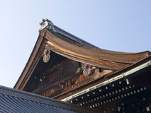 Details of Japanese roof. Royalty Free Stock Photography