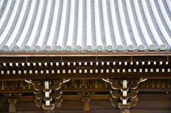 Details of Japanese temple roof architecture Stock Image